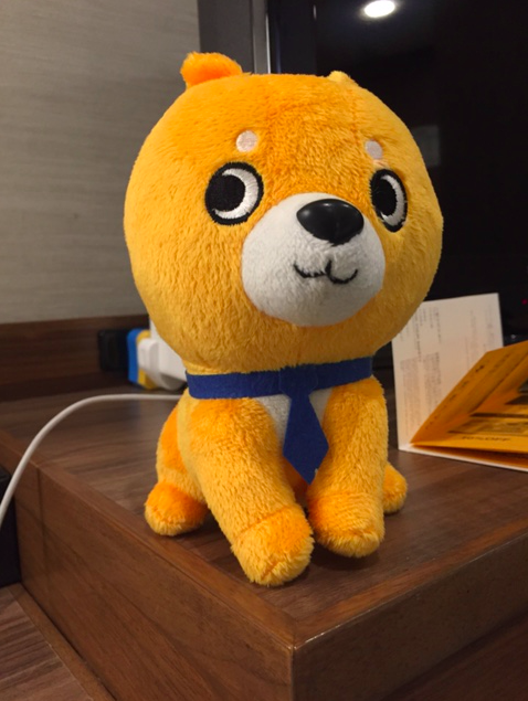 Nikkei mascot Denshiba the dog