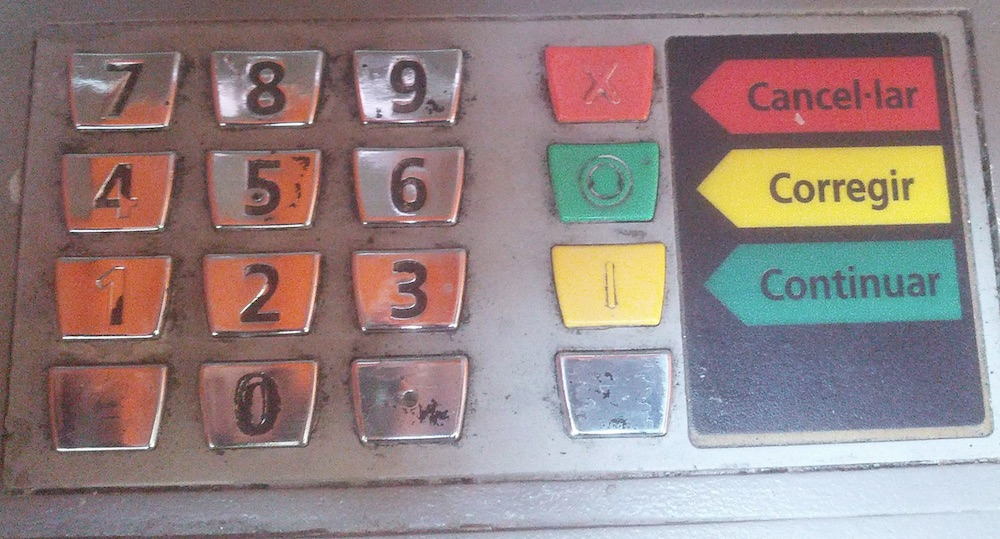 PIN keypad the wrong way up